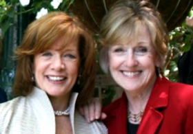 Judy Markey and Kathy O'Malley