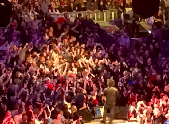 Springsteen crowd surfing