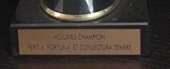 McLuxies plaque