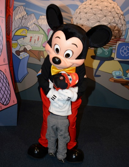 Chip hugging Mickey