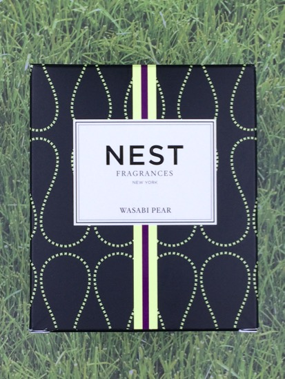 Shotbox Nest candle on grass