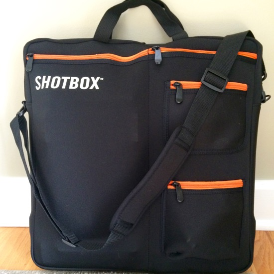 Shotbox bag full of equipment