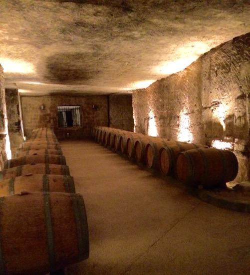 Château de La Rivière wine cellar