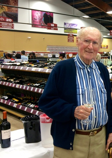 Wine tasting at 98