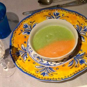two melon soup