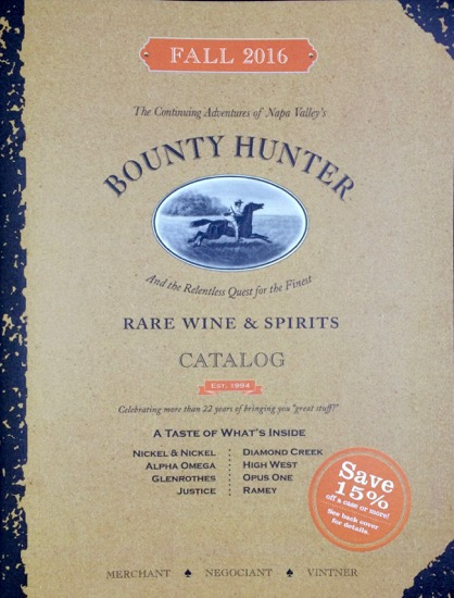 Bounty Hunter Wine Catalog