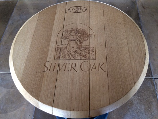 Silver Oak barrel
