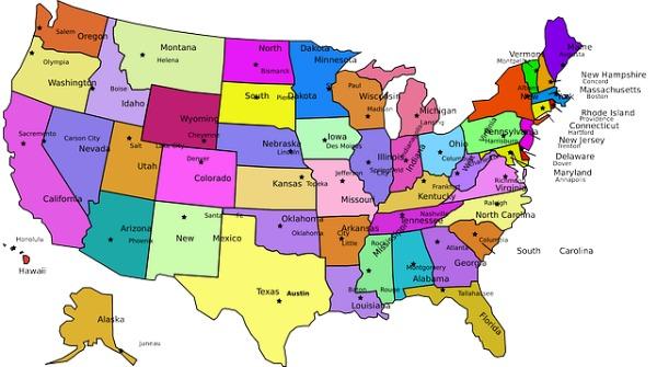 US Capital Map