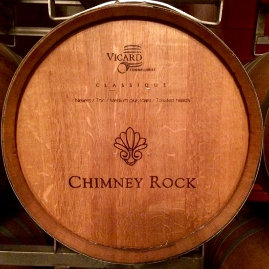 Chimney Rock Winery barrel