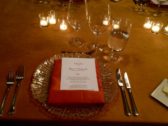 Chimney Rock Winery private dinner menu