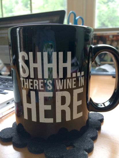Shhhh there's wine in here