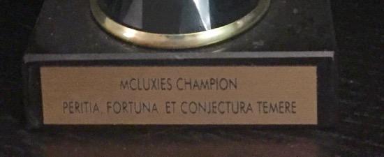 McLuxies plaque
