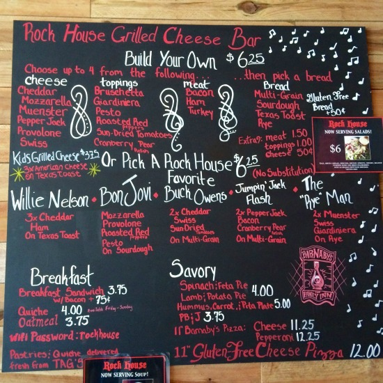 Rock House Glenview Grilled Cheese Menu