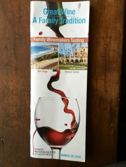Mocadeaux - Family Winemakers of California 2016 wine tasting event brochure