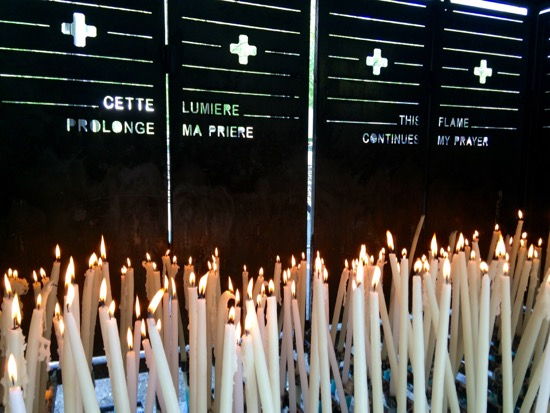 candle lighting at Lourdes