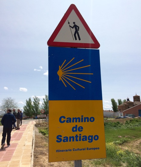 First sign of the Camino