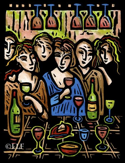 Kitchen Crowd by Liz Lyons Friedman