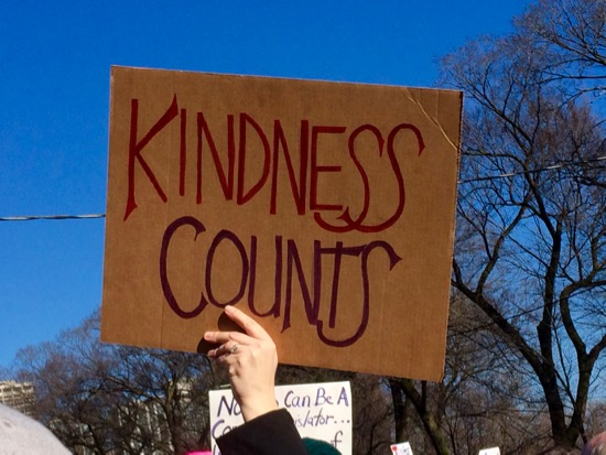 Women's March Chicago Kindness Counts