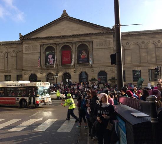 Women's March Chicago Art Institute