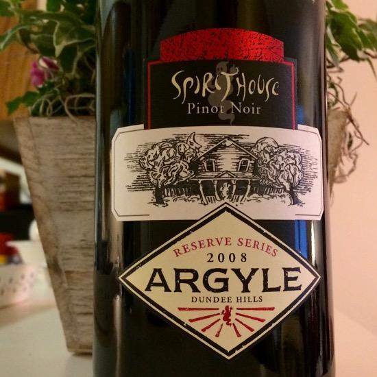 2008 Argyle Spirithouse Reserve Series Pinot Noir
