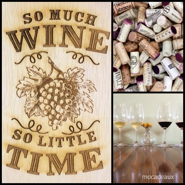 Mocadeaux Wine collage